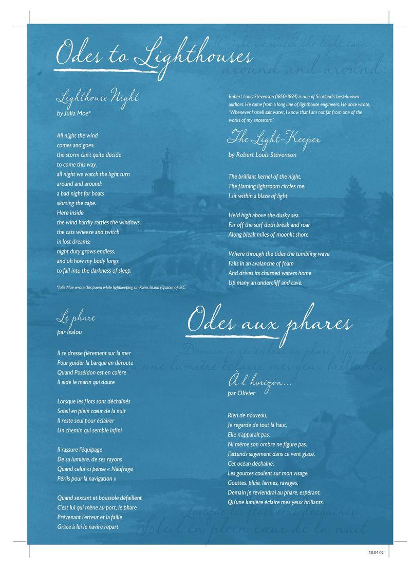 Poèmes Phare-de-Fisgard